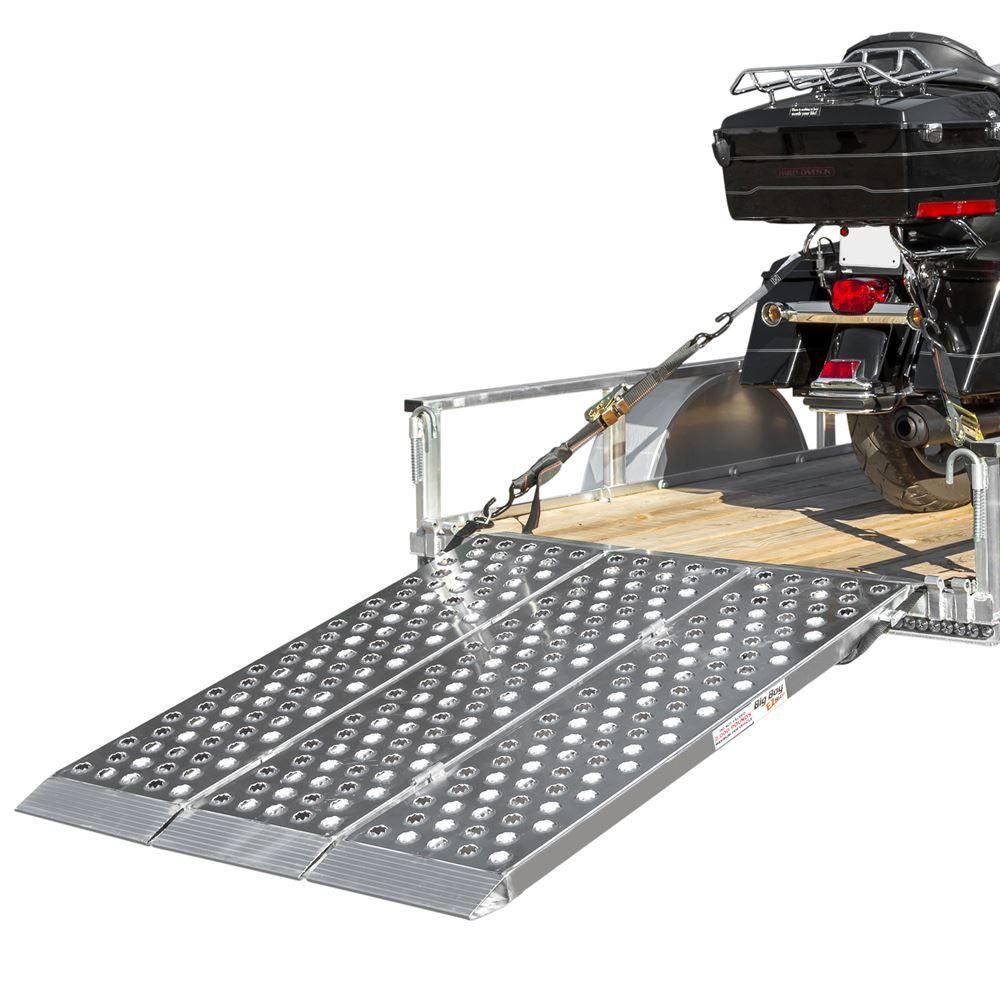 Big Boy EZ Rizer Aluminum Tri-Fold Motorcycle Ramp