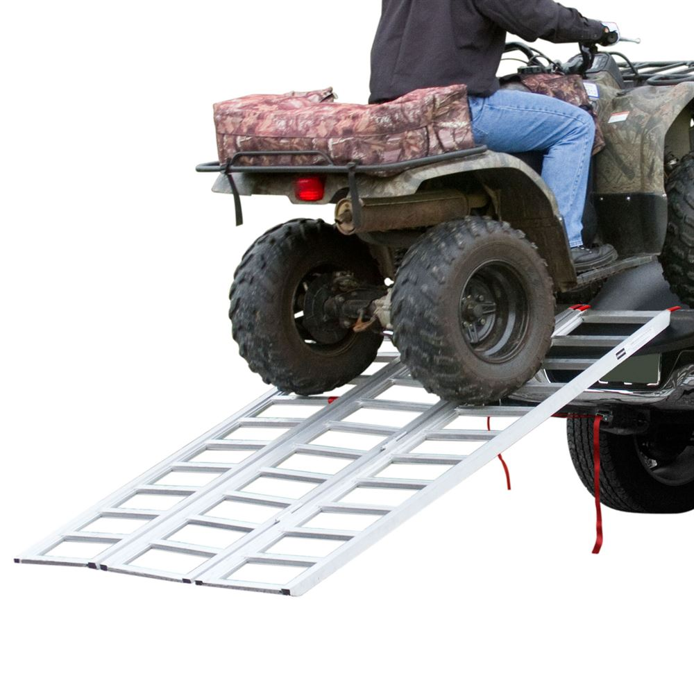 TF-7754 Aluminum Extra-Wide Tri-Fold ATV Ramp - 65 Long