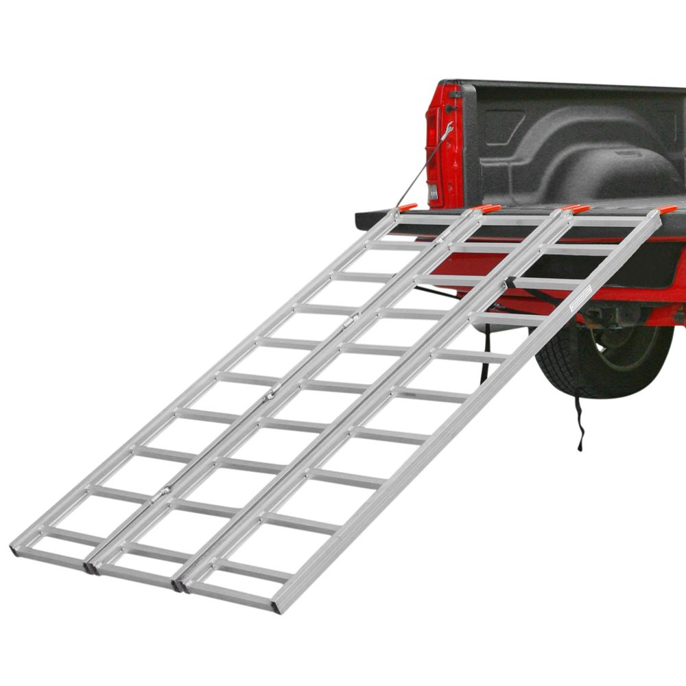 Atv Truck Ramps >> Aluminum Tri Fold Atv Ramp 6 8 Long Discount Ramps