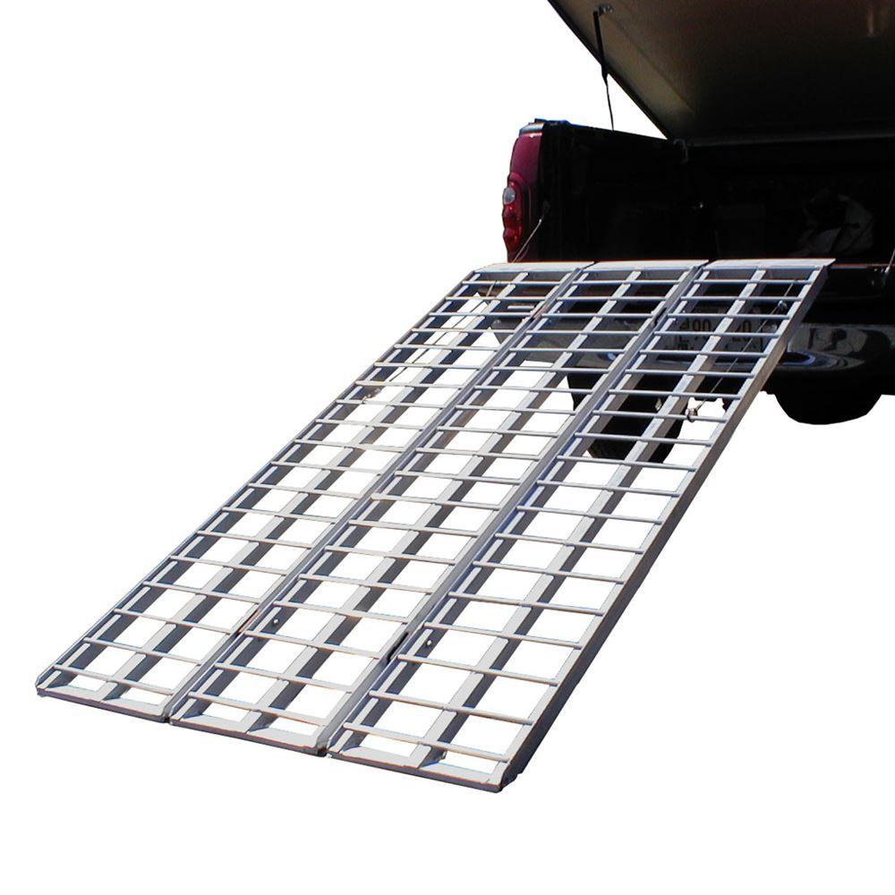 Aluminum Atv Ramps >> Black Widow Aluminum Heavy Duty Tri Fold Atv Ramp