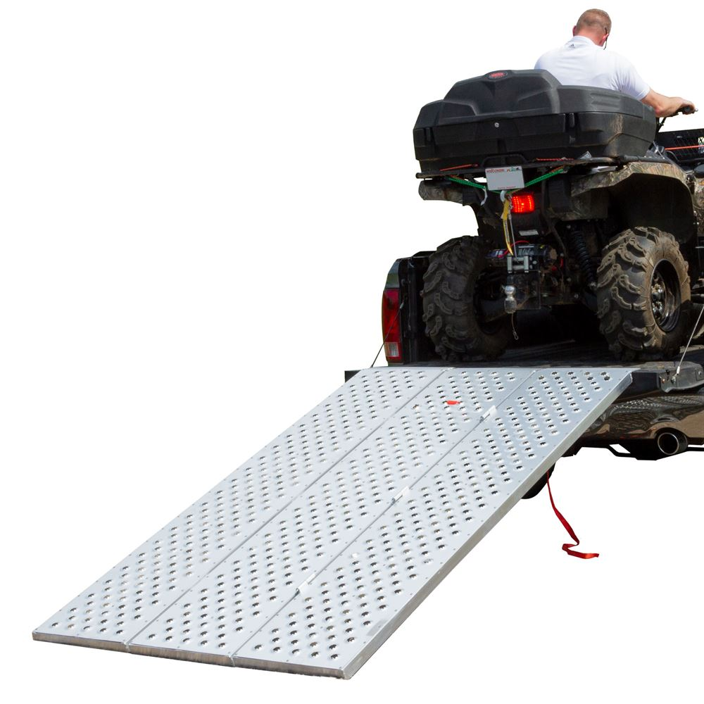 Black Widow Aluminum Punch Plate Tri-Fold ATV Ramp
