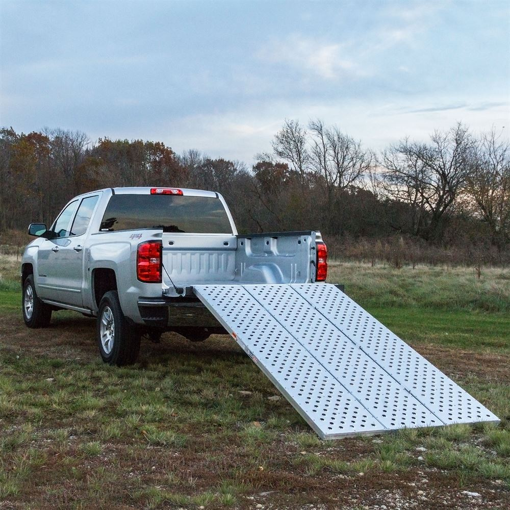 Atv Truck Ramps >> Black Widow Aluminum Punch Plate Tri Fold Atv Ramp Discount Ramps