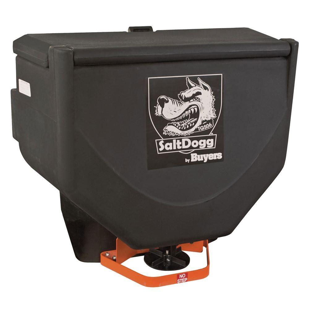 SaltDogg Vibrator Feed Tailgate Salt Spreader – 10 Cubic Foot Capacity