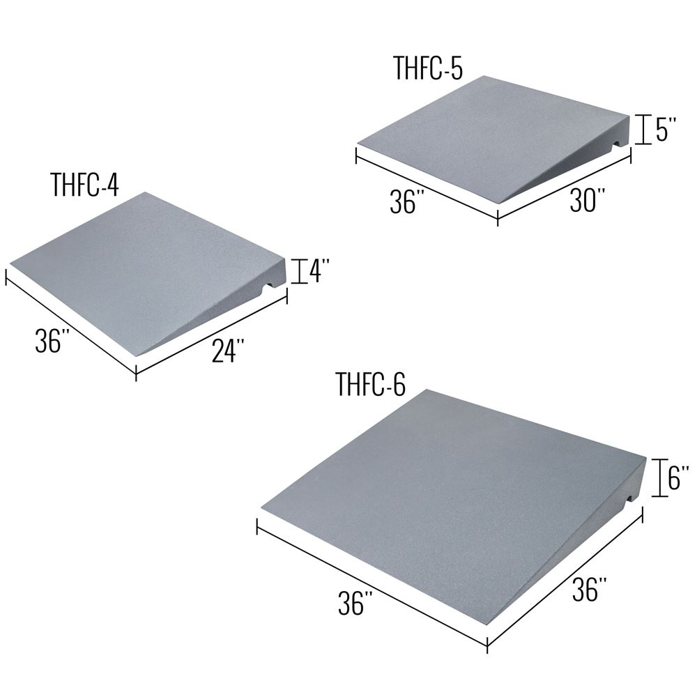 THFC Silver Spring Foam 1-Channel Threshold Ramp - 800 lb Capacity 6