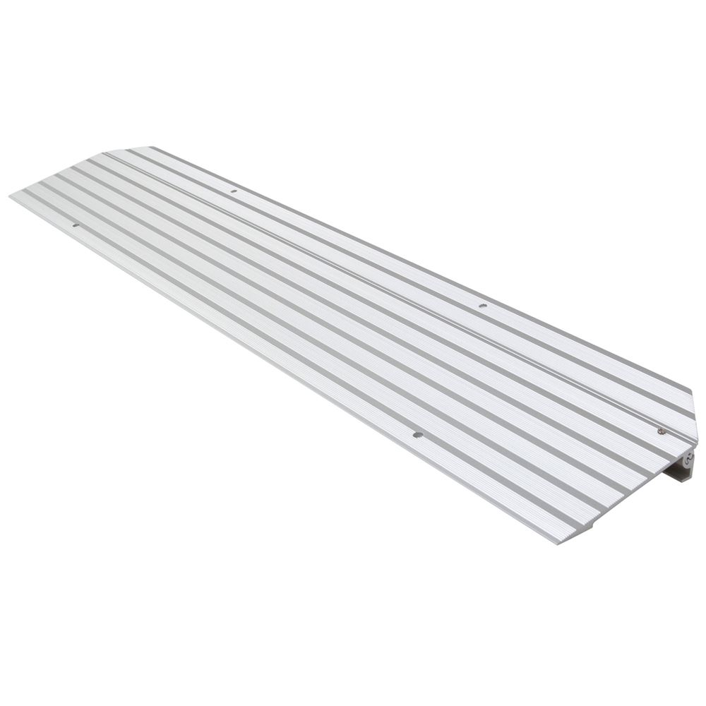 THR1 1-14 H Silver Spring Aluminum Modular Self-Supporting Threshold Ramp