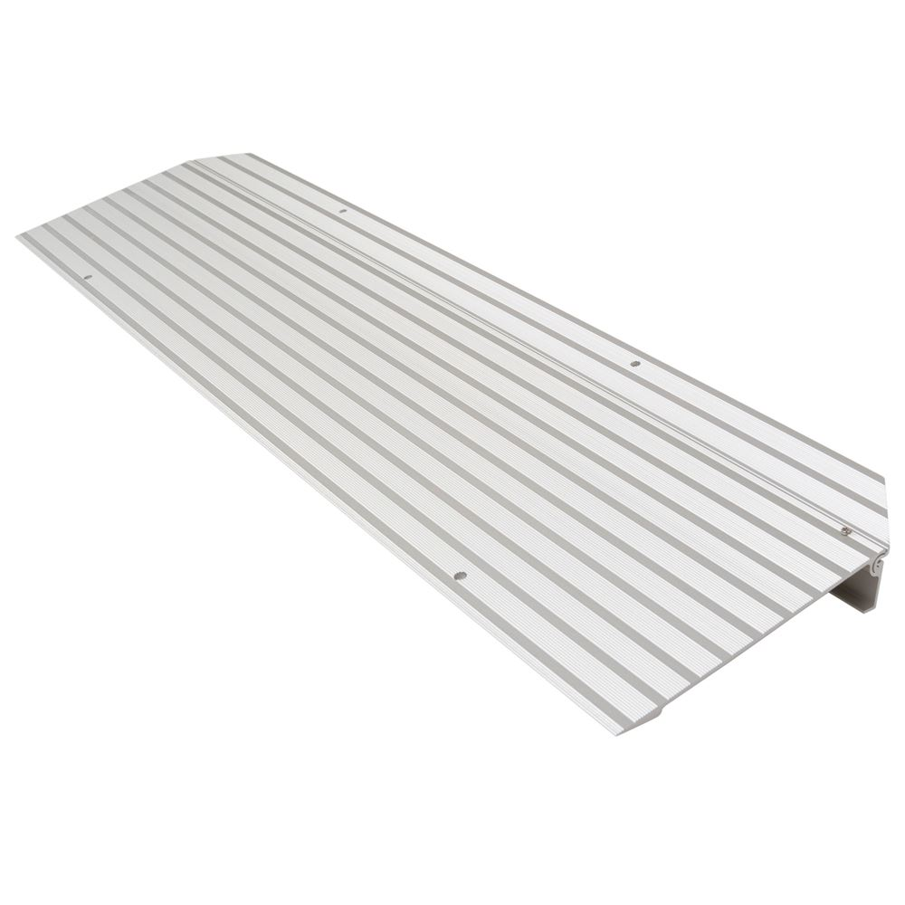 THR15 1-34 H Silver Spring Aluminum Modular Self-Supporting Threshold Ramp