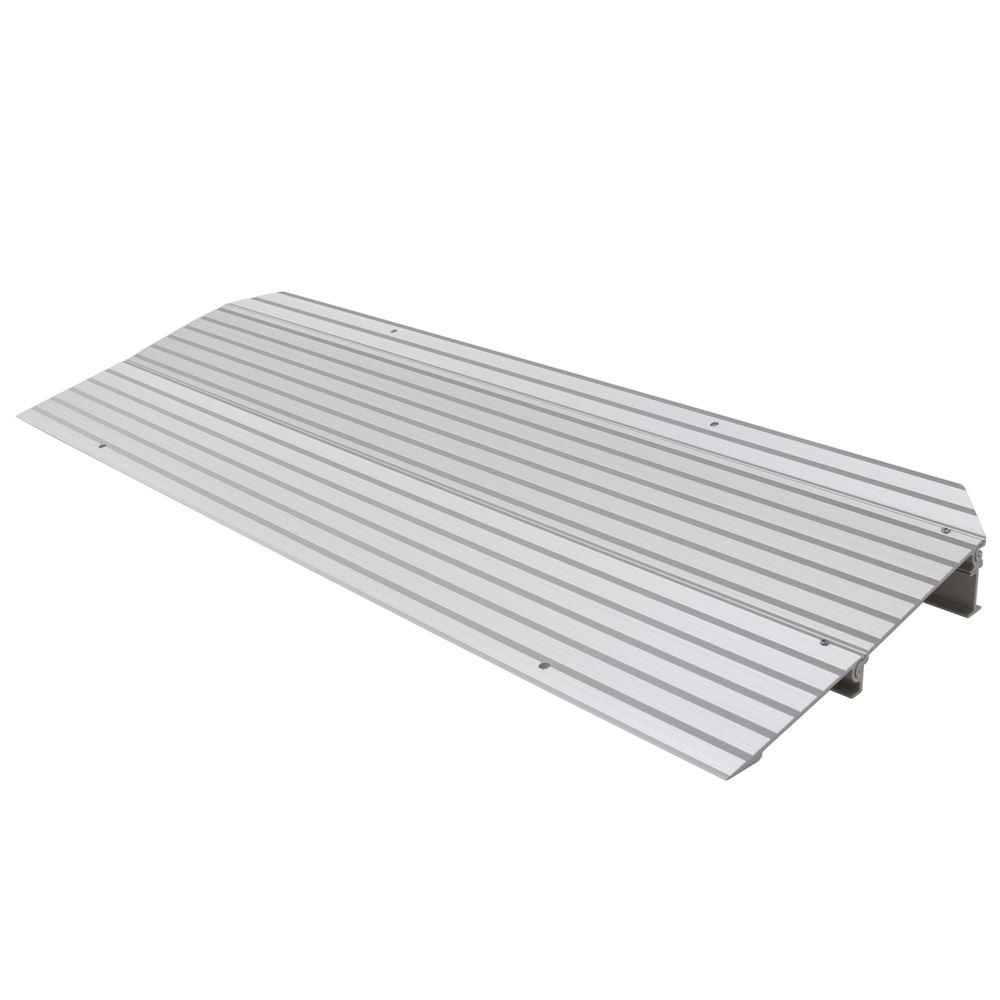 THR2 2-14 H Silver Spring Aluminum Modular Self-Supporting Threshold Ramp