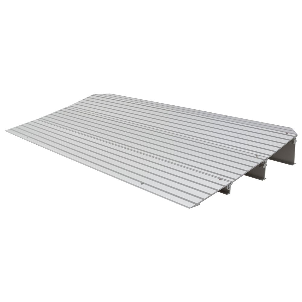 THR3 3-14 H Silver Spring Aluminum Modular Self-Supporting Threshold Ramp