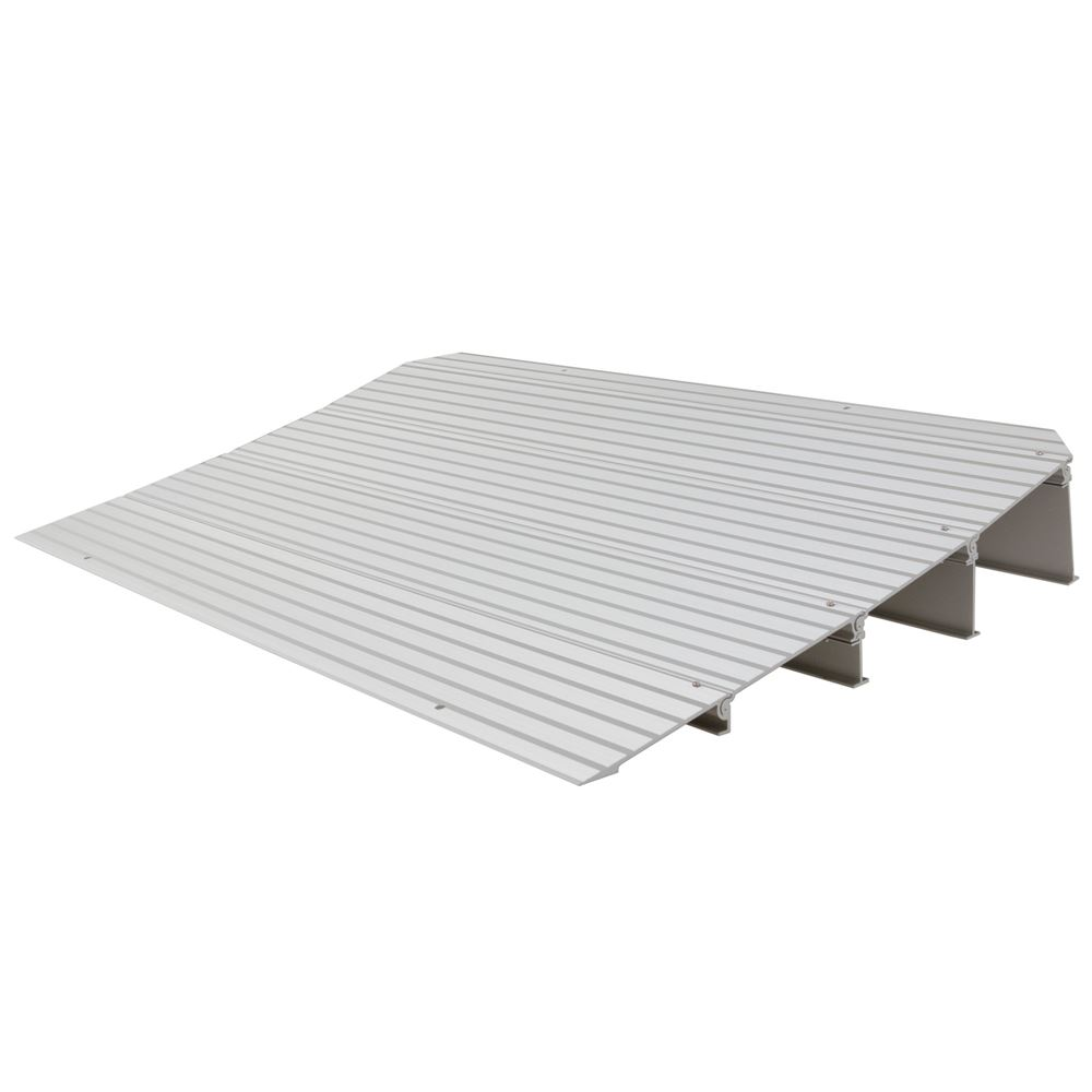 THR4 4-14 H Silver Spring Aluminum Modular Self-Supporting Threshold Ramp