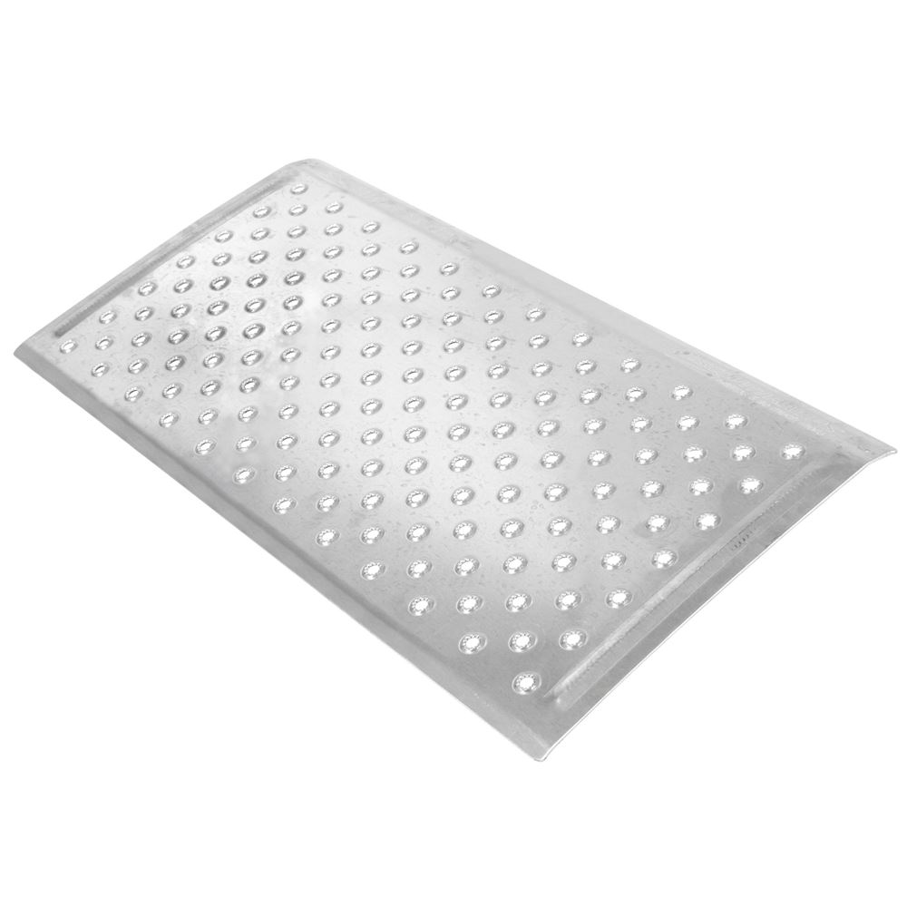 TR3216 16 L x 32 W - Silver Spring Aluminum EZ-Traction Threshold Ramps