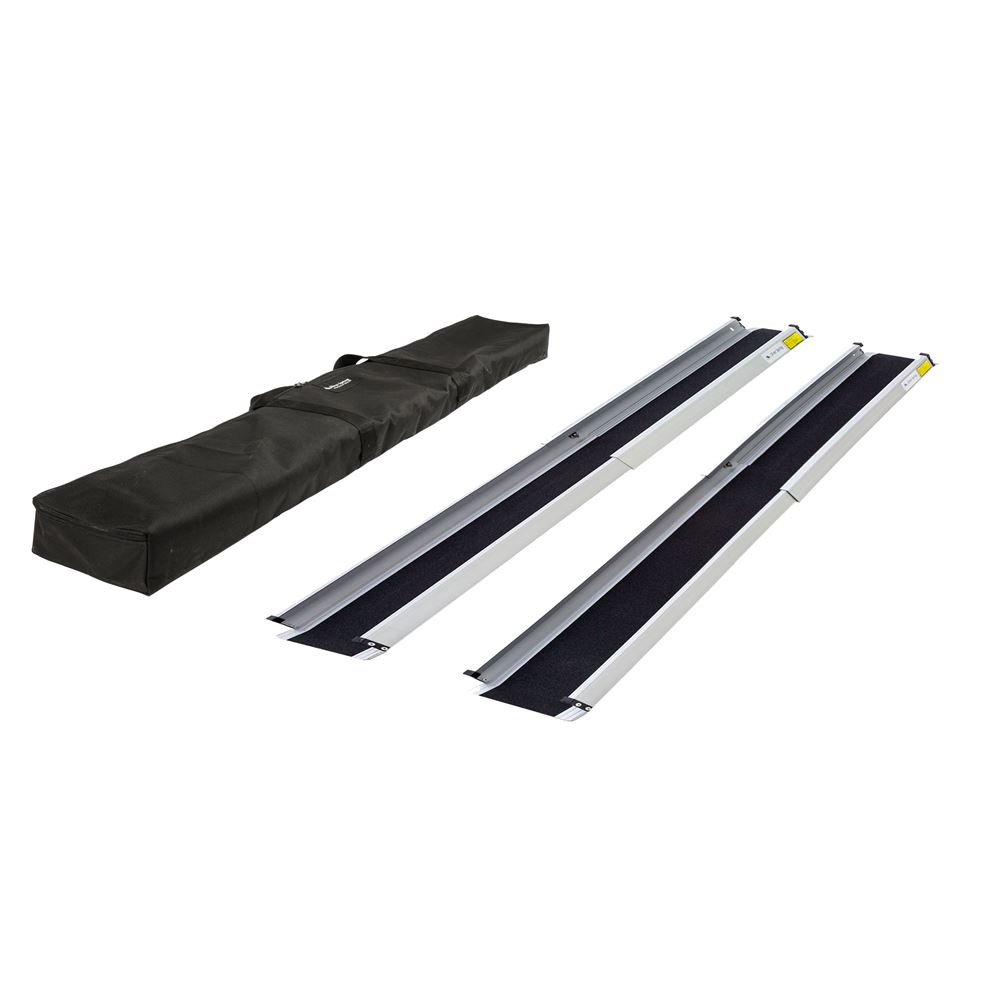 TWR-V2-10-Kit 5-12 - 10 L Silver Spring Telescoping Wheelchair Track Ramps with Bag