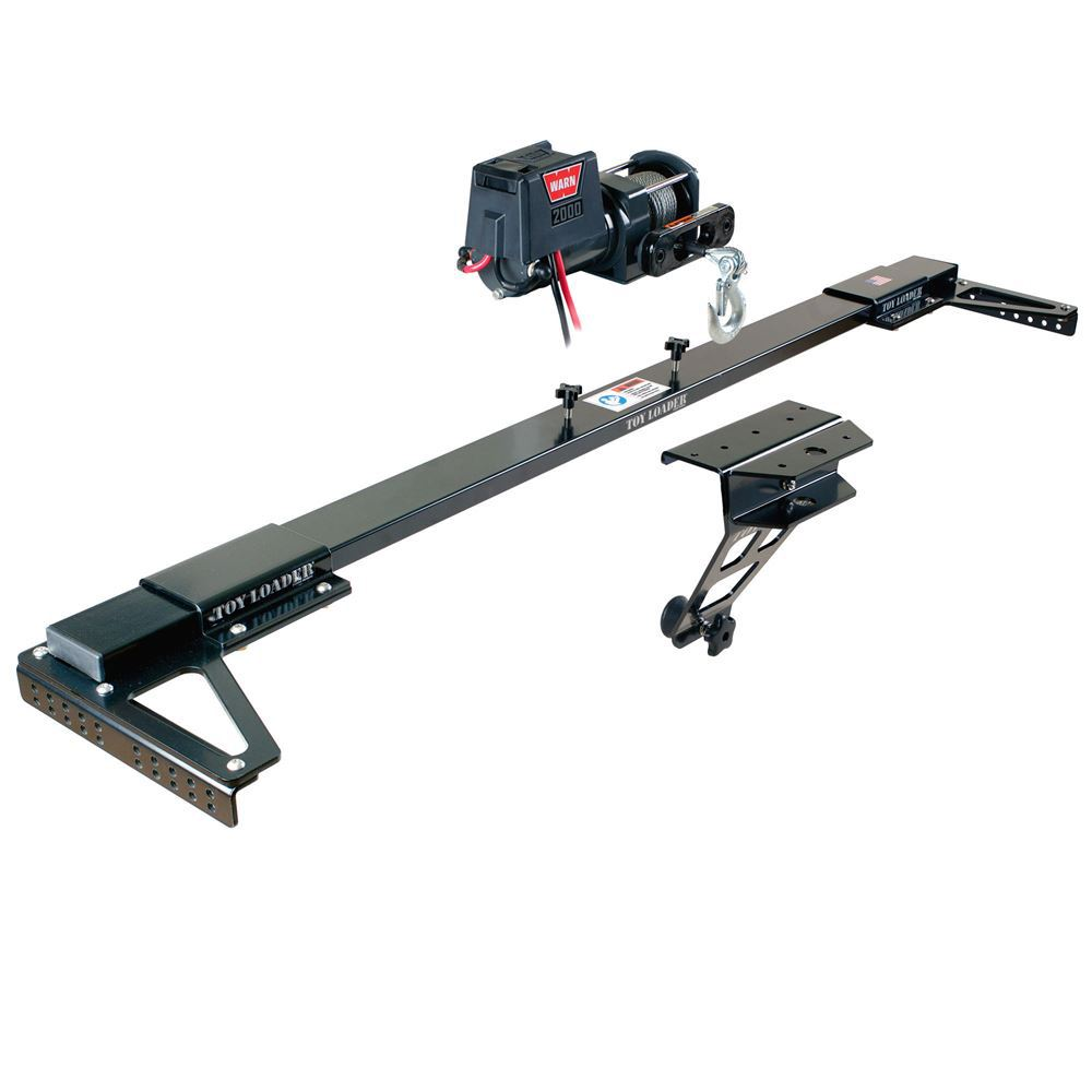 Toyloader-HD Toy Loader Truck Bed Winch Mount With Warn 2000 DC Utility Winch