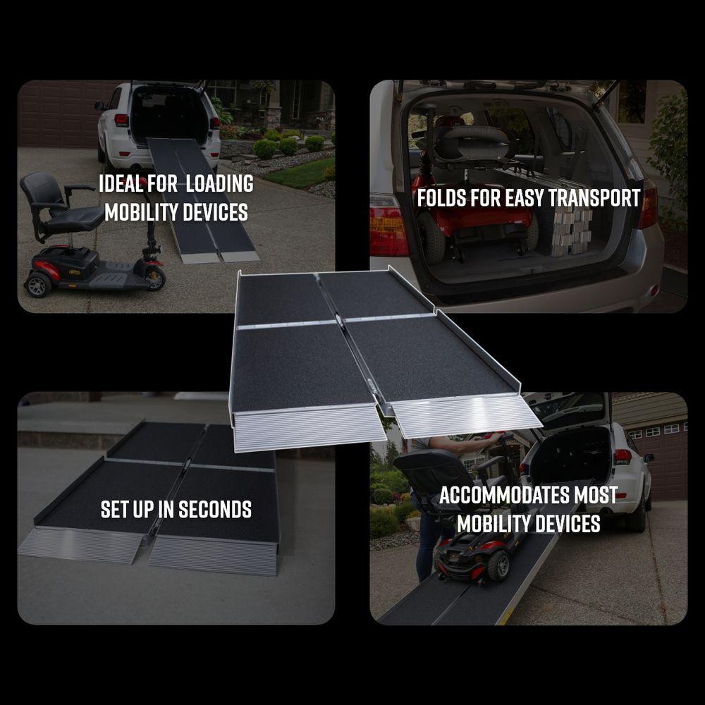 8 Ez Access Aluminum Suitcase Trifold Wheelchair Ramp