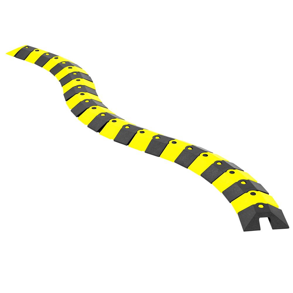 ULT-1800 BlackYellow 1 Channel Ultra-Sidewinder Cable Protector for 38 Diameter Cables