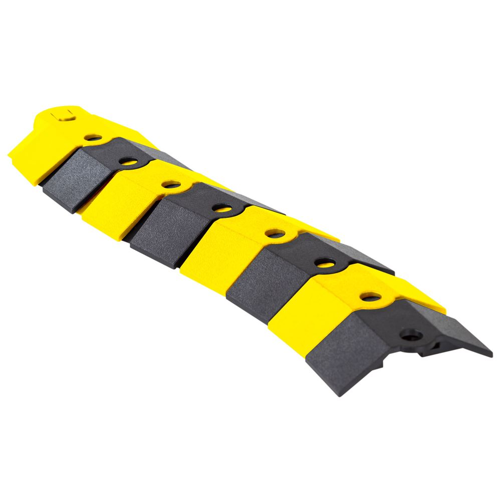 ULT-1801 BlackYellow 1 Channel Ultra-Sidewinder Cable Protector Extension for 38 Diameter Cables