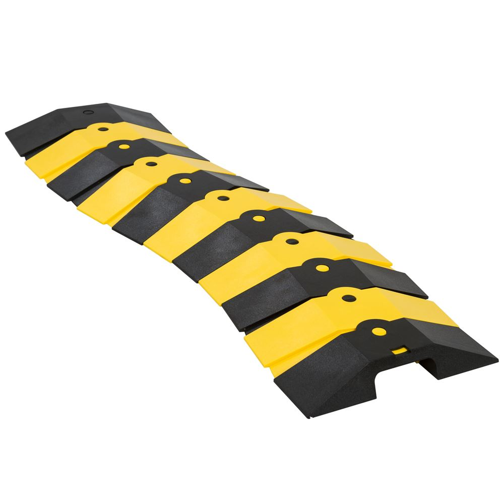 ULT-1830 BlackYellow 1 Channel Ultra-Sidewinder Cable Protector for 34 Diameter Cables