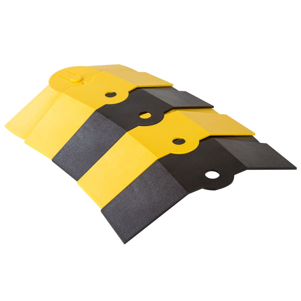 ULT-1831 BlackYellow 1 Channel Ultra-Sidewinder Cable Protector Extension for 34 Diameter Cables