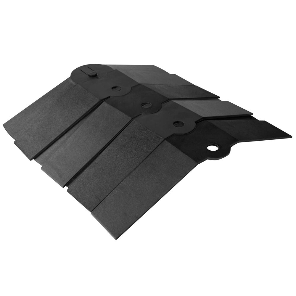 ULT-1843 Black 1 Channel Ultra-Sidewinder Cable Protector Extension for 1-12 Diameter Cables