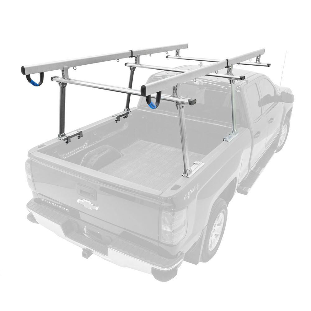UPUT-RACK-ALUM-V2 Elevate Outdoor Aluminum Universal Over-Cab Truck Rack  800-lb Capacity
