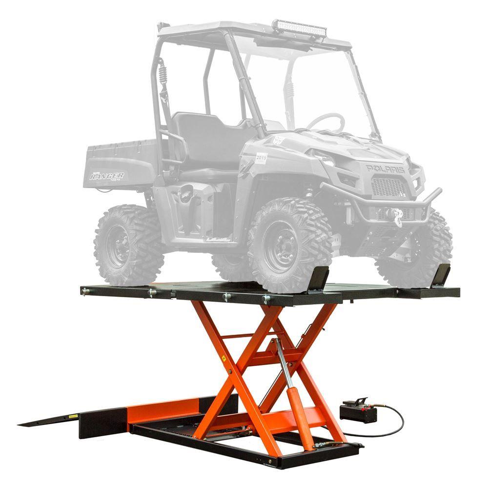UTV-2500P Black Widow AirHydraulic UTV Lift Tables - 2500 lb Capacity