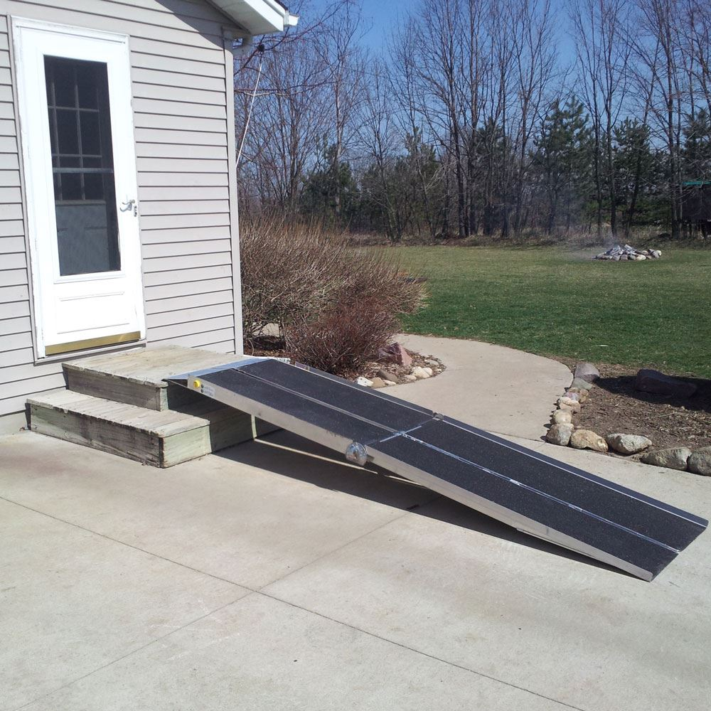 UTW PVI Aluminum Multi-Fold Rear Door Wheelchair Van Ramp 5
