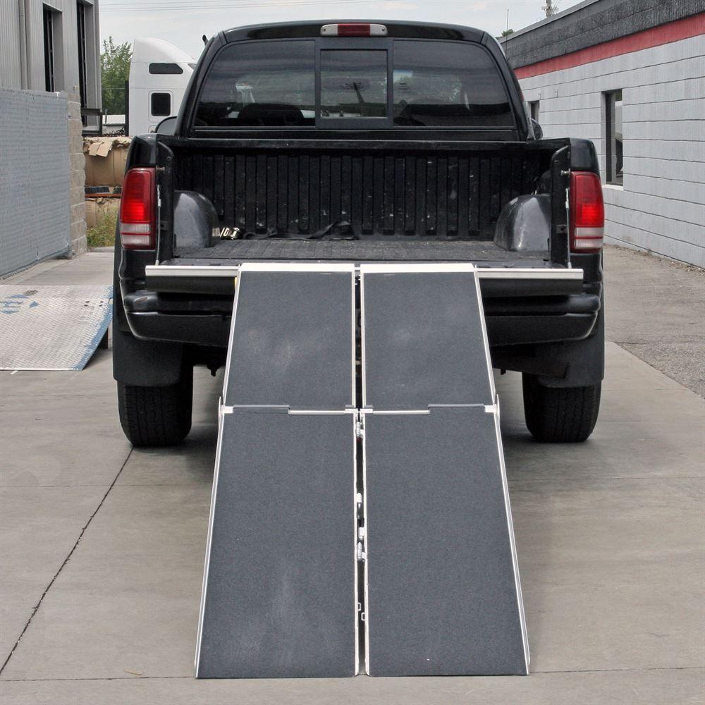 "Walking The Ramp For Home Decor Ideas: PVI Aluminum 30"" Wide Apron-End Aluminum Multi-Fold Walk"