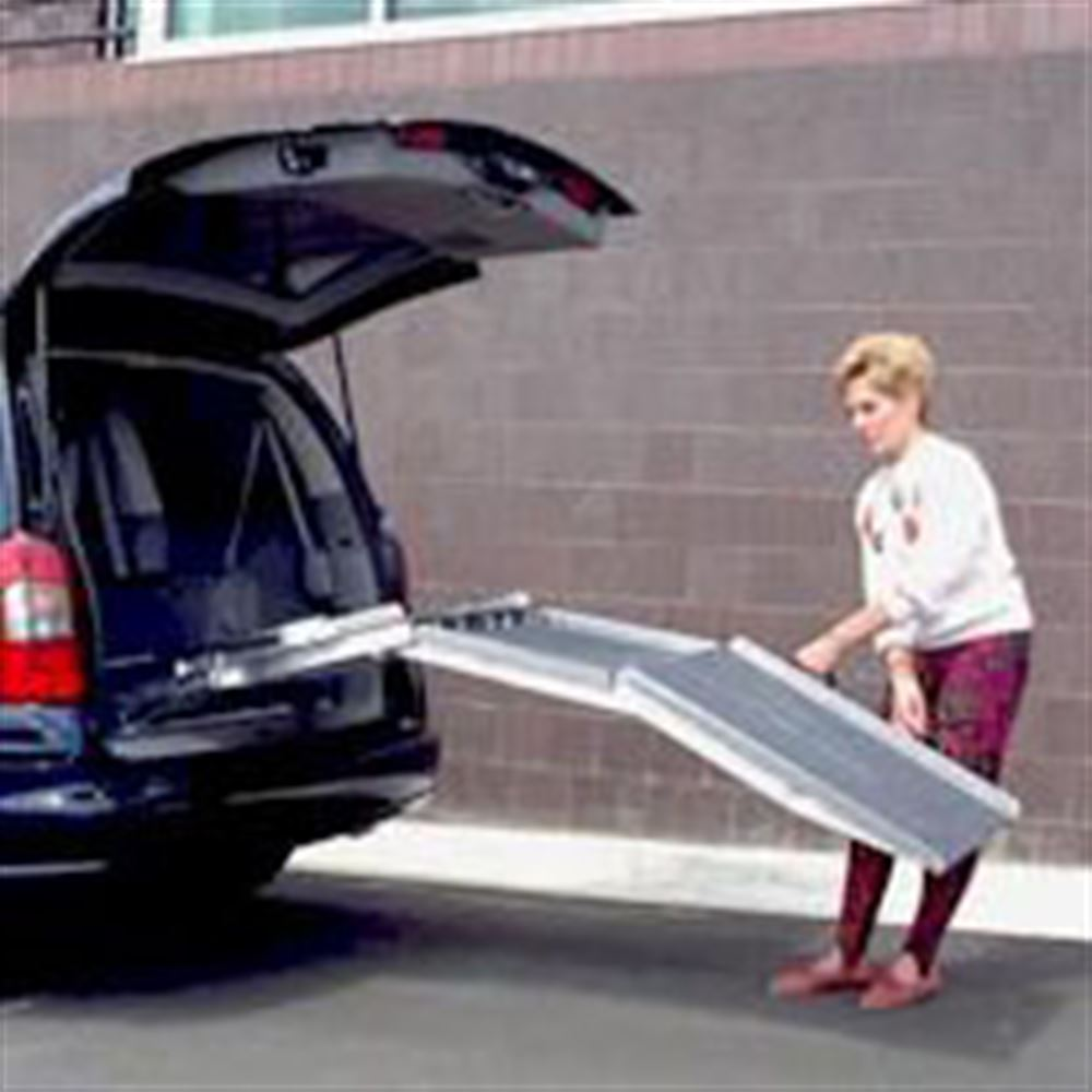 VAN27-Ramp PVI Aluminum Multi-Fold Rear Door Wheelchair Van Ramp 2