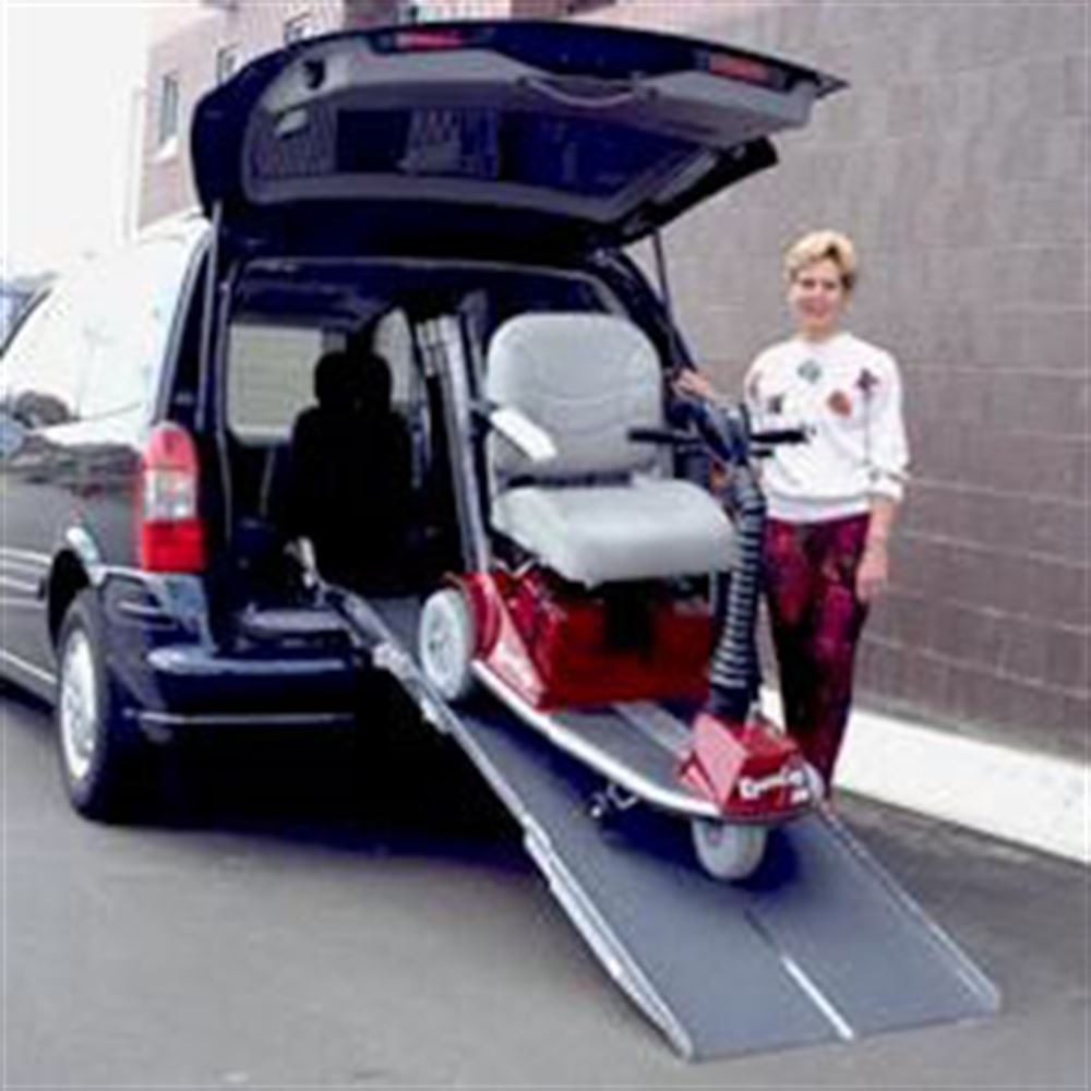 VAN27-Ramp PVI Aluminum Multi-Fold Rear Door Wheelchair Van Ramp 3