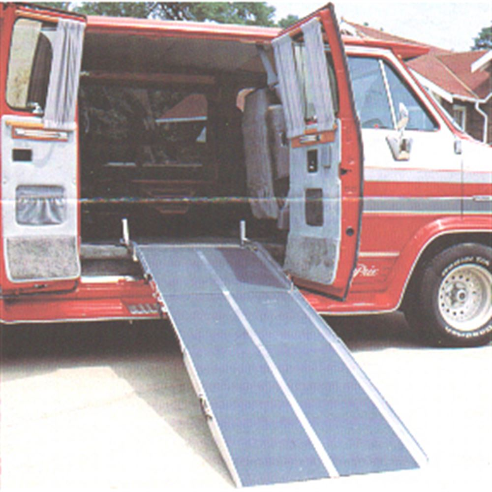 VAN27-Ramp PVI Aluminum Multi-Fold Rear Door Wheelchair Van Ramp 4