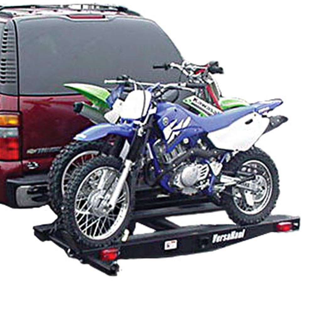 Details About 2 Hitch 600 Lb Double Motorcycle Carrier Rack With Ramp Vh 55dm Ro