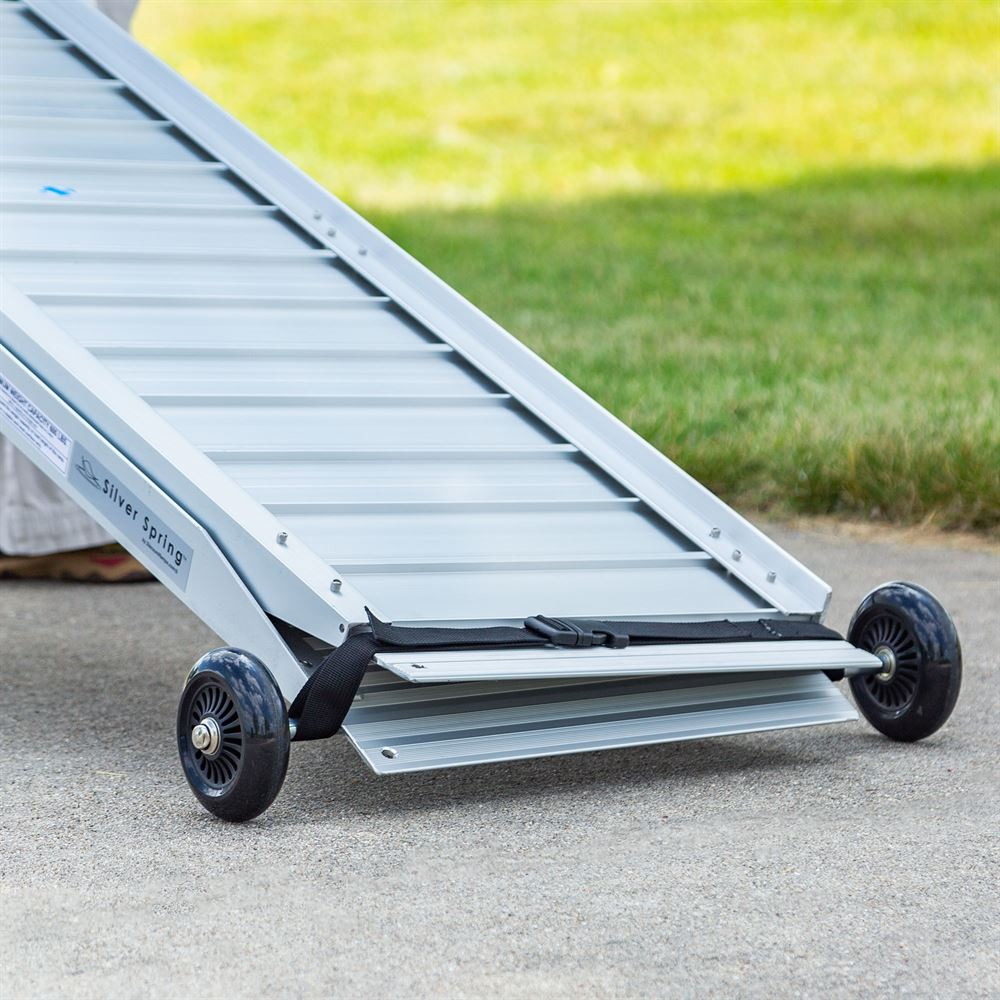 WC-WHEEL-KIT Silver Spring Portable Wheelchair and Scooter Ramp Wheel Kit 4