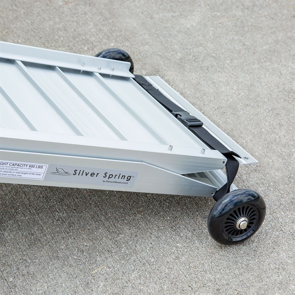WC-WHEEL-KIT Silver Spring Portable Wheelchair and Scooter Ramp Wheel Kit 5