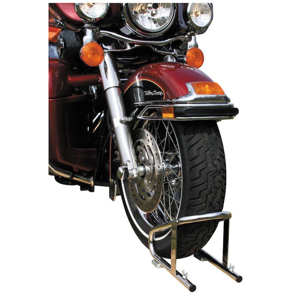 WC100609 Buyers Products Chrome-Plated Steel Motorcycle Wheel Chock