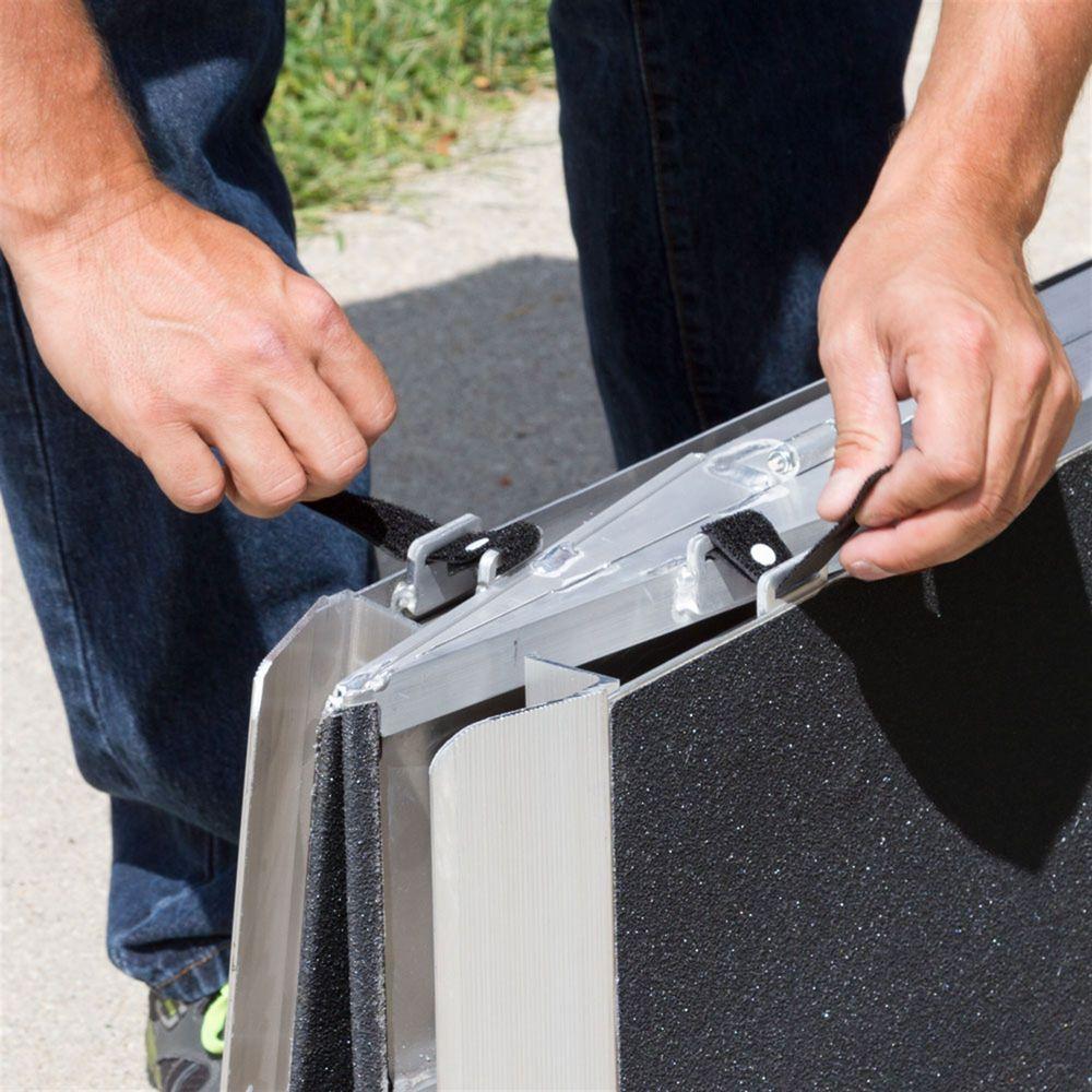 WCMF Silver Spring Aluminum Multi-Fold Wheelchair Ramp - 600 lb Capacity 5