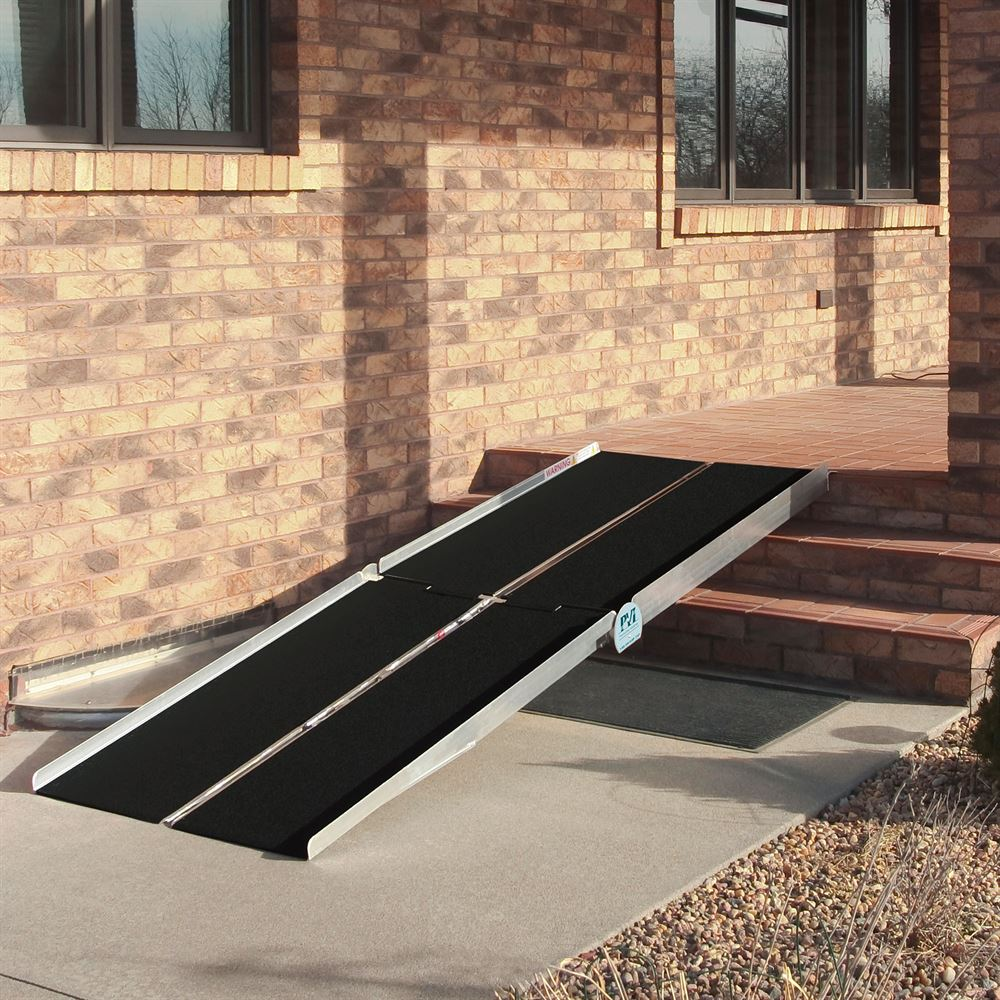 Walking The Ramp For Home Decor Ideas: 7' PVI Aluminum Multi-Fold Wheelchair Ramp
