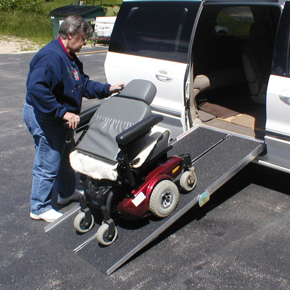 pvi aluminum multi fold wheelchair ramp 800 lbs capacity