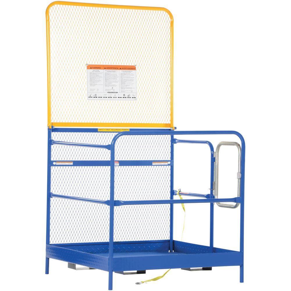 WP-3636-84B Vestil Work Platform with 84 H Back - 36 W x 36 L