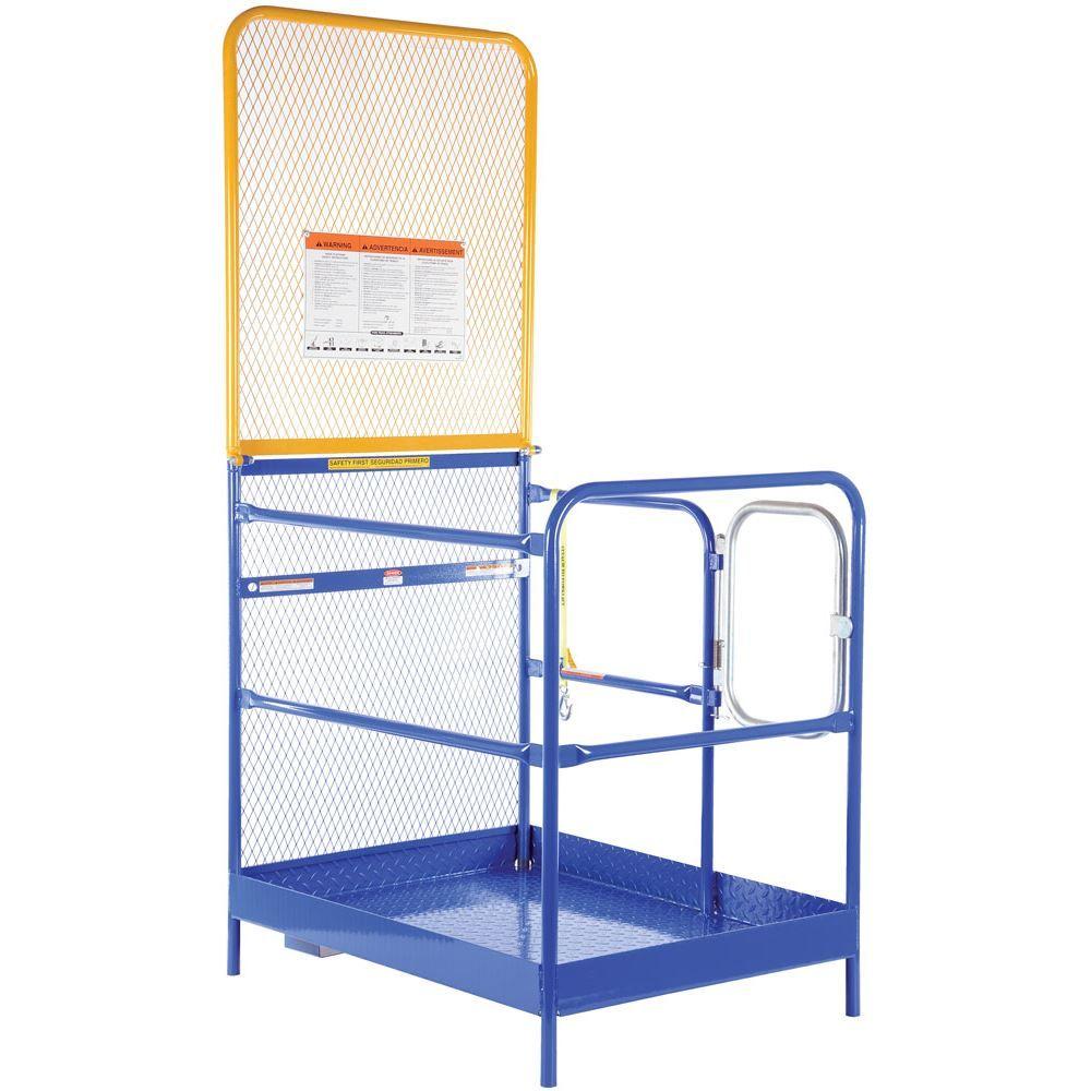 WP-3648-84B Vestil Work Platform with 84 H Back - 36 W x 48 L