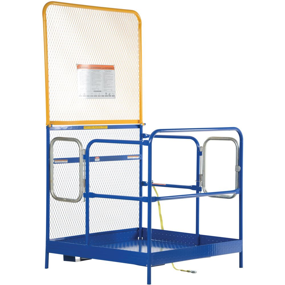 WP-4848-84B-DD Vestil Dual Door Work Platform with 84 H Back - 48 W x 48 L