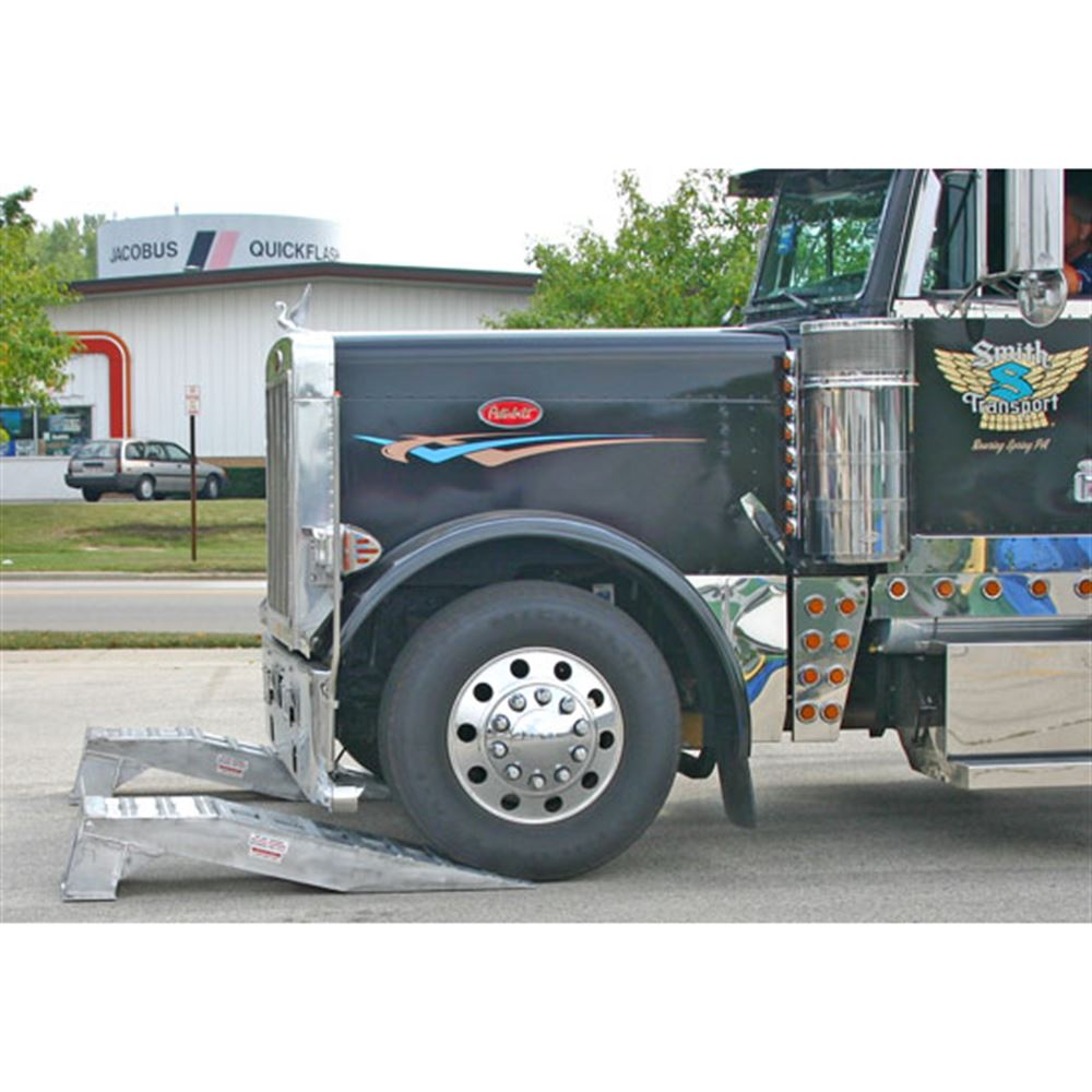 Big Rig Wheel Weights : Semi truck wheel riser service ramps discount