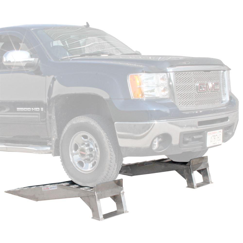WR-7K Heavy Duty Aluminum Truck Service Ramps - 7000 lb per axle Capacity