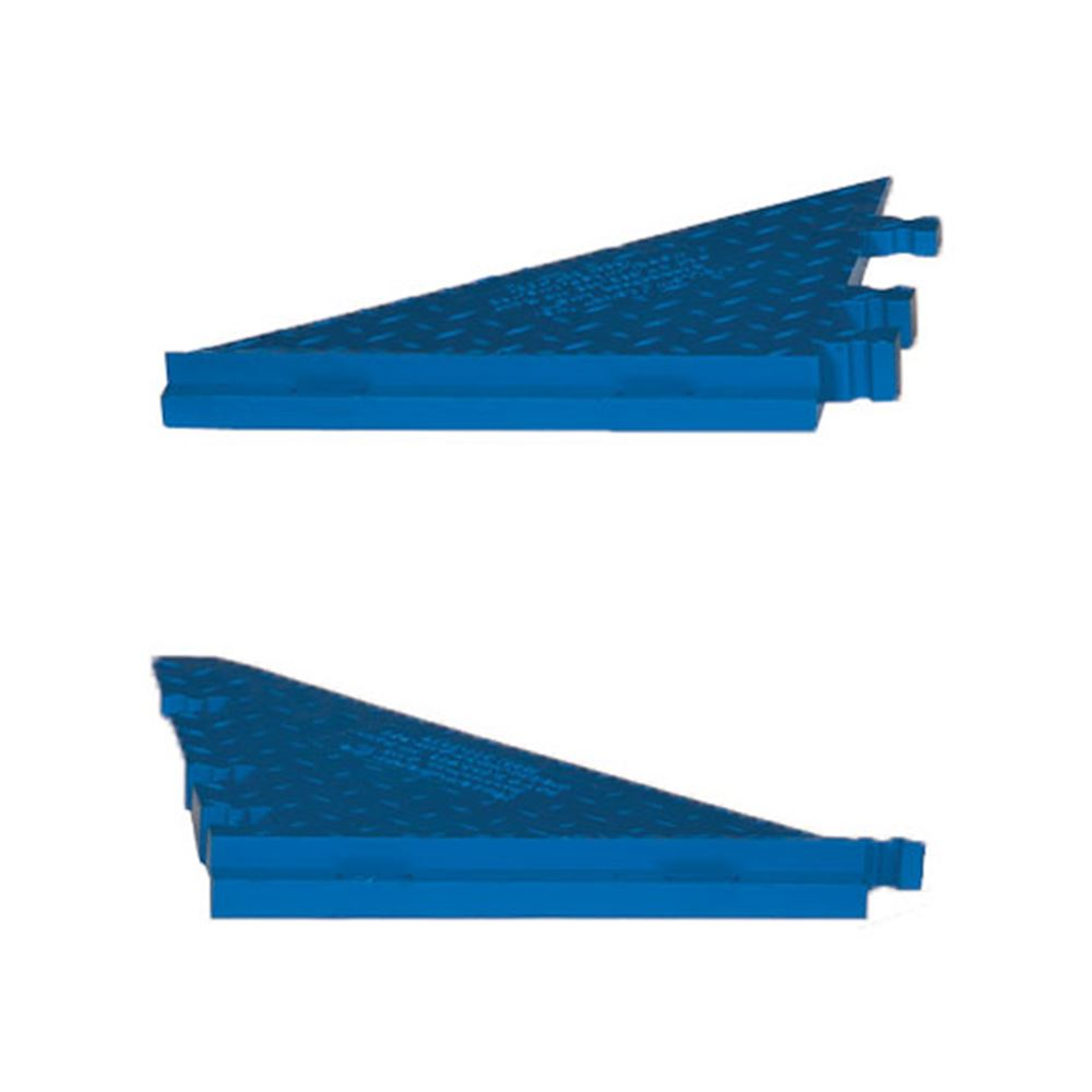 WSA-125-BFF-BLU Female Side Ramps for 5-Channel Yellow Jacket AMS Cable Protector for 1-14 Diameter Cables