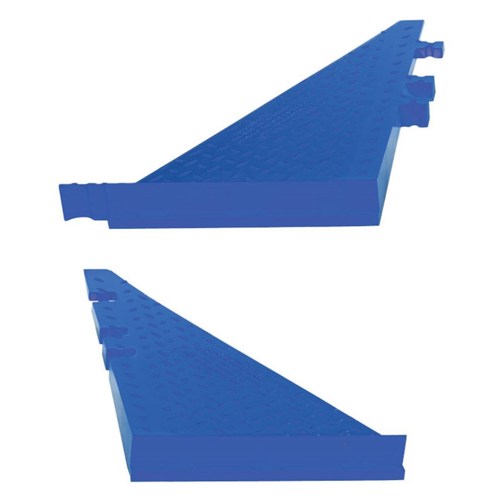 WSA-225-BFF-BLU Female Side Ramp for 3-Channel Yellow Jacket AMS Cable Protector for 2-14 Diameter Cables