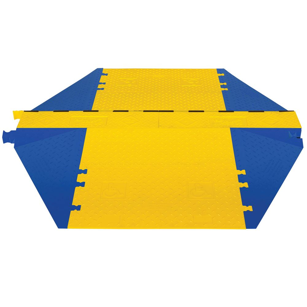 WSA-225-KIT1-HS 3-Channel Yellow Jacket AMS Cable Protector and ADA Ramp Kit for 2-14 Diameter Cables