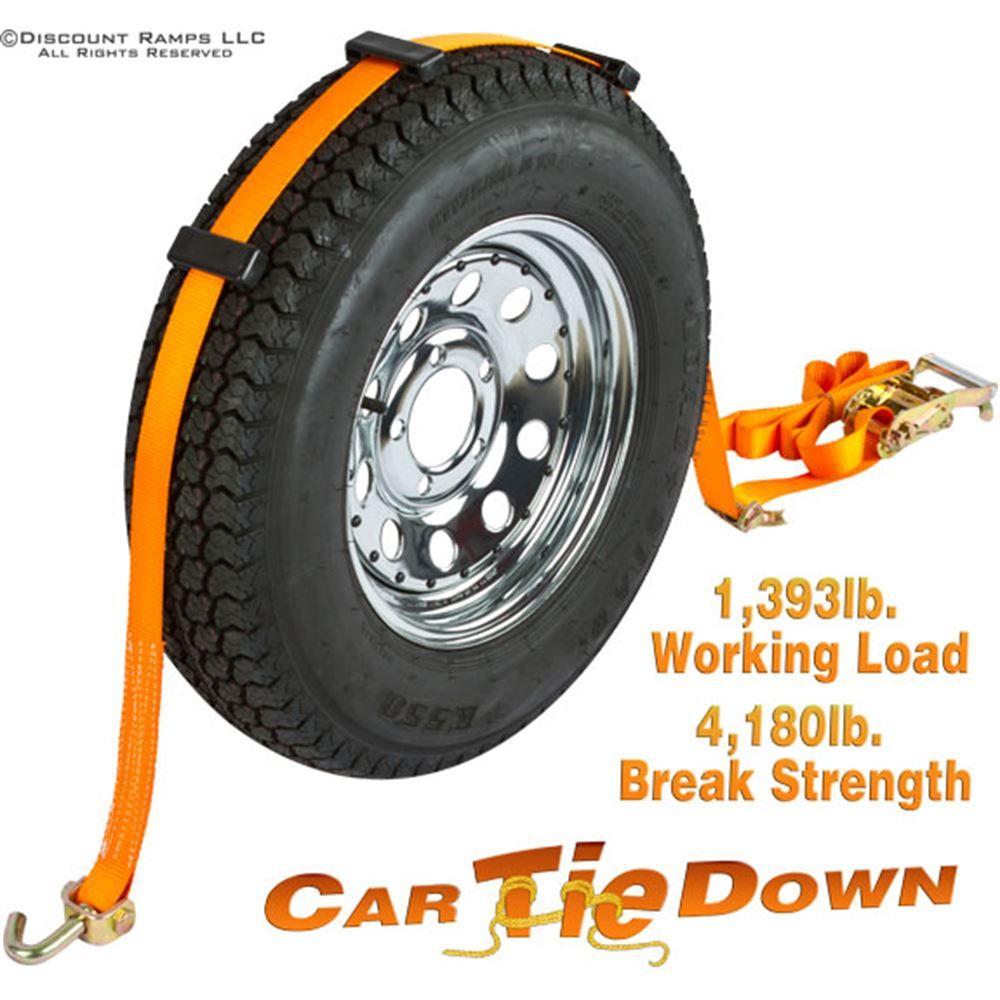 WTD-RAT-SWIVEL Single Wheel Tie Down Straps