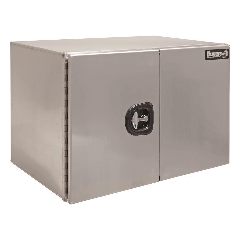 XDAUDBD Buyers Products Aluminum XD Double Barn Door Underbody Toolbox with Three-Point Latch