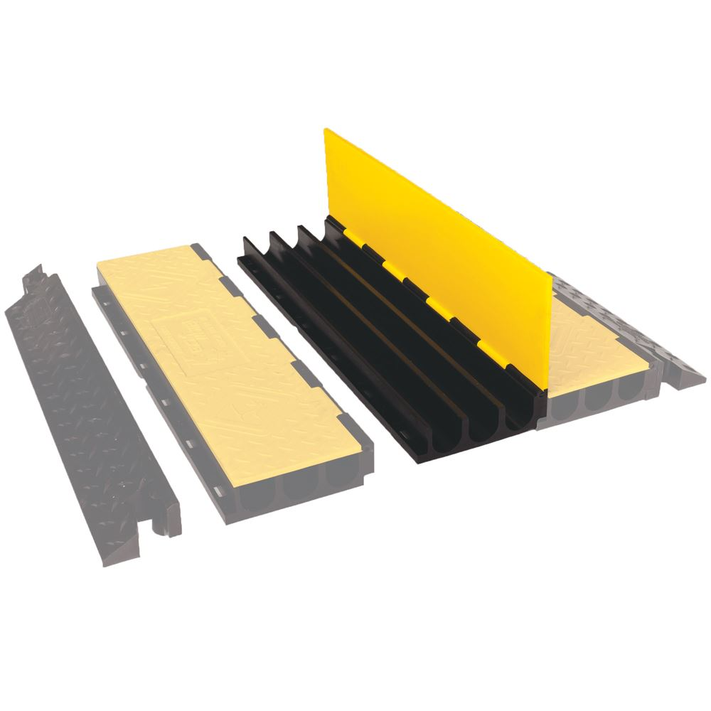 YJ3-225-AMS-CTR 3-Channel Center Section for Yellow Jacket AMS Cable Protector for 225 diameter cables
