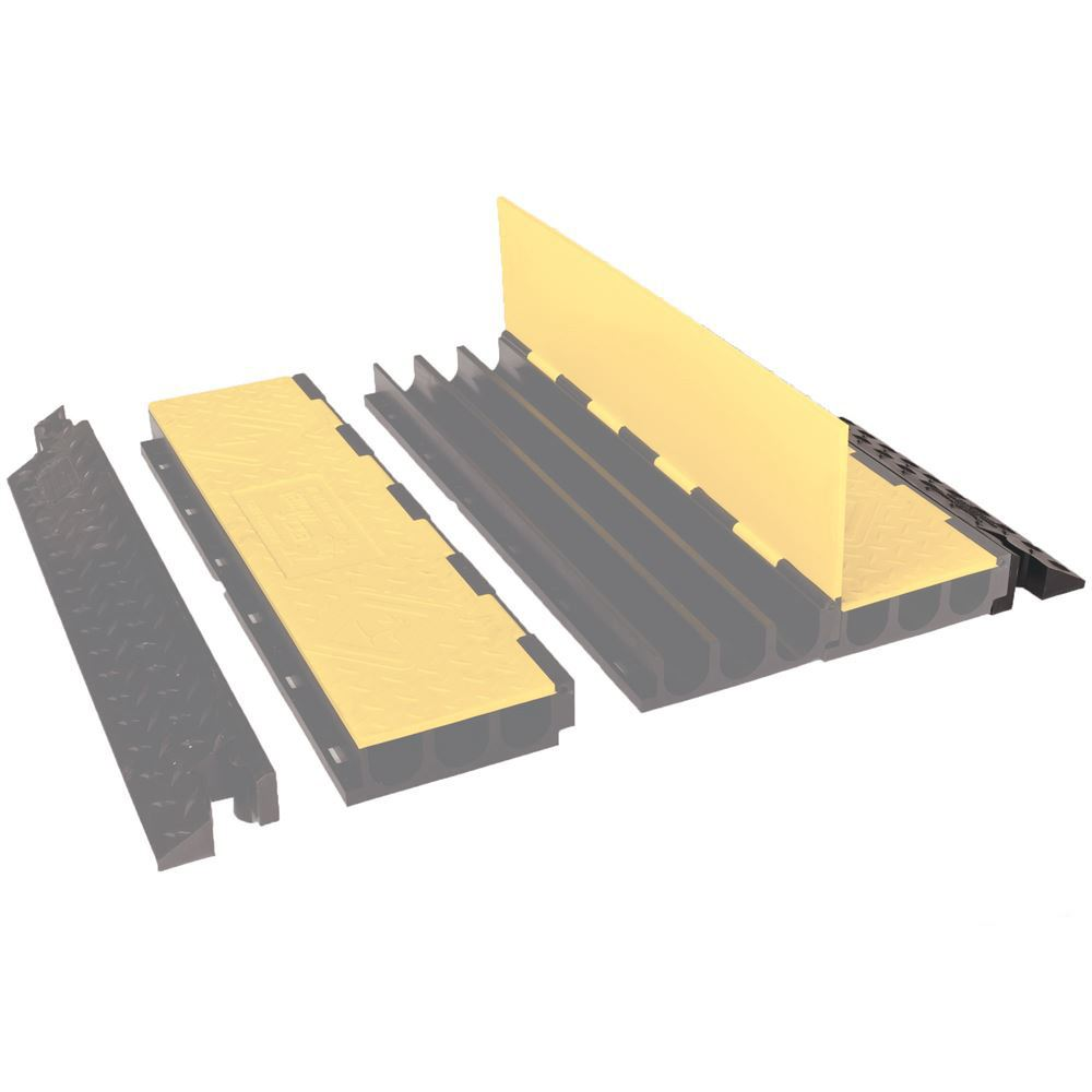 YJ3-225-AMS-F-B Female Ramp for 3-Channel Yellow Jacket AMS Cable Protector for 225 diameter cables