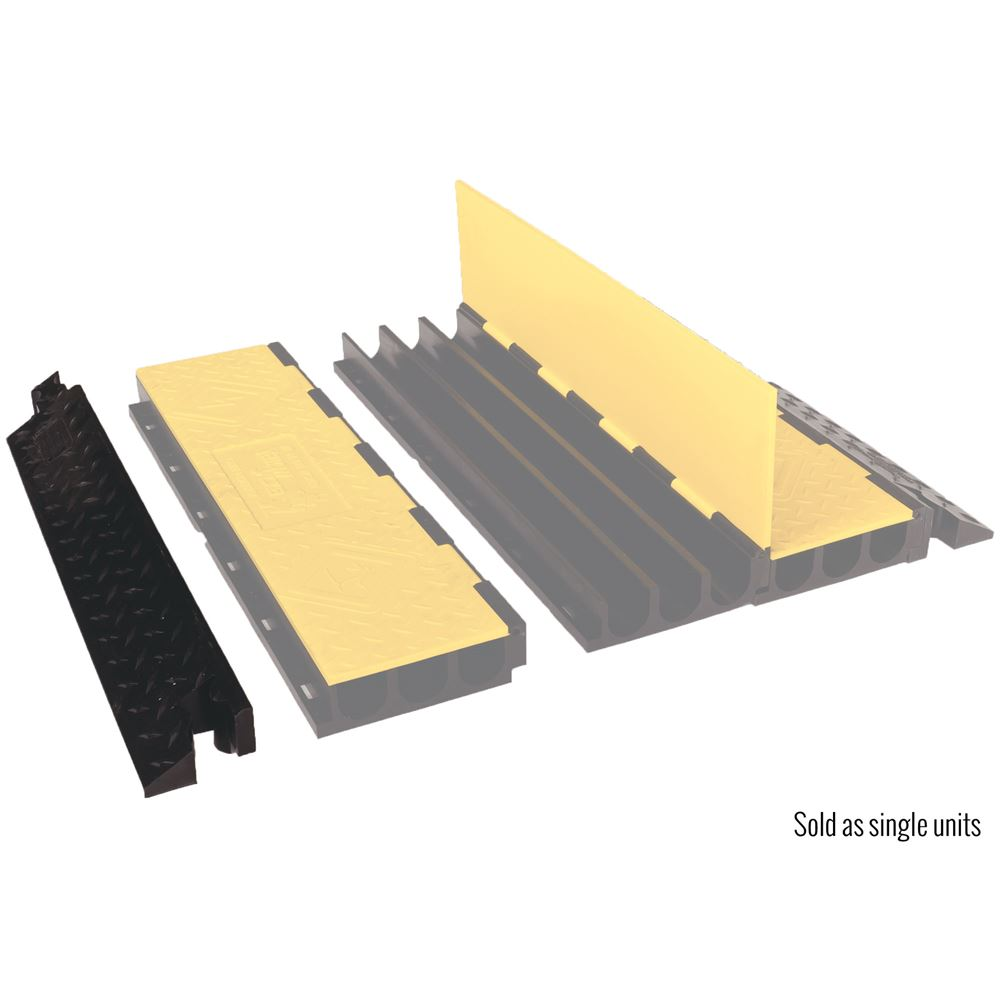 YJ3-225-AMS-M-B Male Ramp for 3-Channel Yellow Jacket AMS Cable Protector for 225 diameter cables