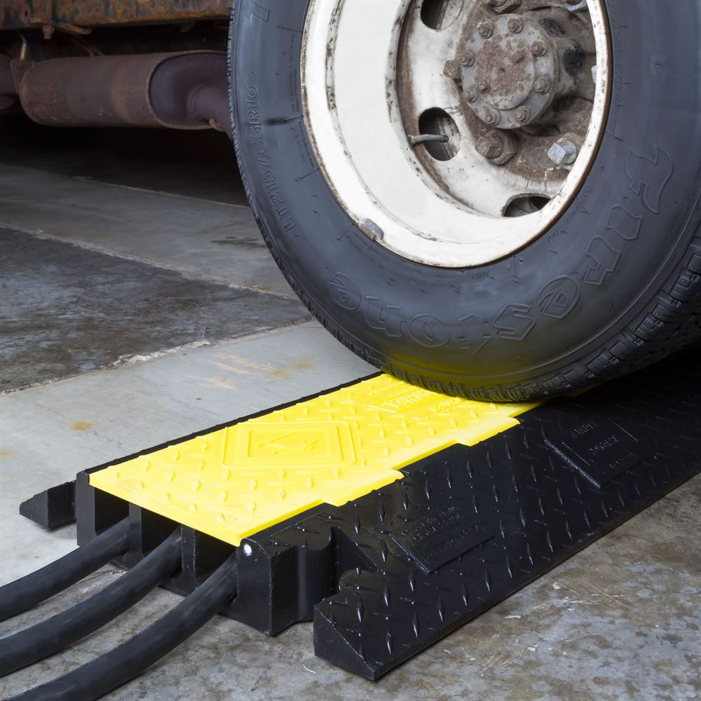 3-Channel Yellow Jacket Cable Protector for 2.125\